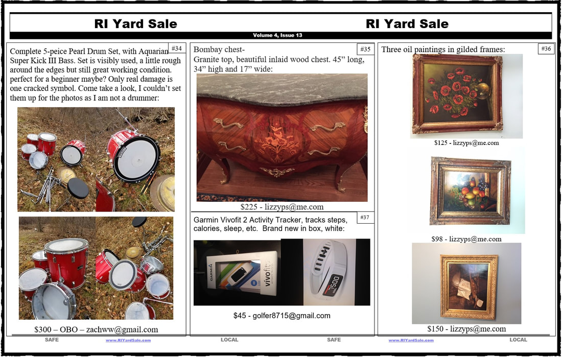 ri yard sale home
